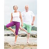 Aktiver Senior, Yoga, Aktive Seniorin