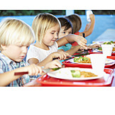 Child, Eating, Cafeteria, School Food