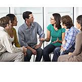 Besprechung & Unterhaltung, Gruppe, Diskussion, Selbsterfahrung