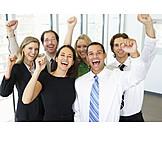 Erfolg & Leistung, Team, Geschäftsleute, Jubel