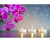 Wellness & Relax, Stillleben, Meditation, Teelicht