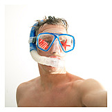 Snorkeling, Diver, Beach holiday