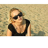 Young Woman, Woman, Summer, Listening Music