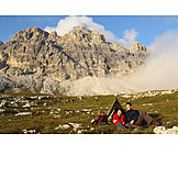 Camping, Mountain tour, Camping, Backpacker, Adventure holidays