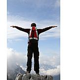 Erfolg & Leistung, Ziel, Bergsteiger, Berggipfel, Freiheit & Selbstständigkeit