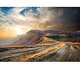 Mountain Range, Autumn, Road