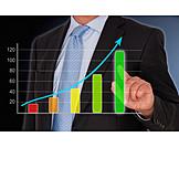 Money & Finance, Growth, Sales, Bar Graph