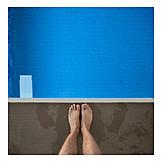 Swimming Pool, Foot, Diving Board