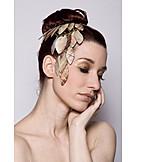 Beauty, Woman, Headgear, Hair Bun