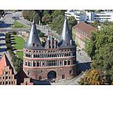 City gate, Holstentor, Luebeck