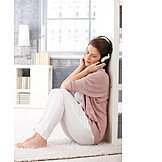 Young Woman, Leisure & Entertainment, Listening Music