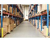 Logistik, Lagerhalle, Warenlager