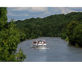 Boating, Ship, Water transport, Neckar, Passenger shipping