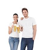 Junge Frau, Junger Mann, Essen & Trinken, Anstoßen
