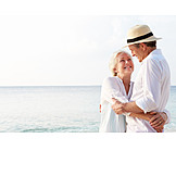 Active Seniors, Affection, Ajar, Relationship, Beach Holiday