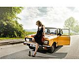 Holiday & Travel, Retro, Car, Oldtimer, Dress, Road Trip, Car Driver
