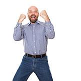 Man, Enthusiastic, Cheering