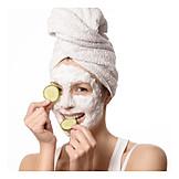 Beauty & Kosmetik, Gesichtsmaske, Anti-aging, Gurkenmaske