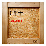 Logistik, Zerbrechlich, Kiste, Fragile, Warentransport