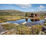Idyllic scene, Cabin, Norway, Cottage