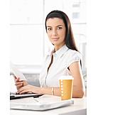 Junge Frau, Frau, Geschäftsfrau, Büro & Office