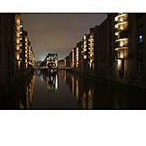 Hamburg, Speicherstadt, Water castle