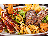 Meat Dish, Barbeque Plate