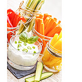 Healthy diet, Finger food, Quark