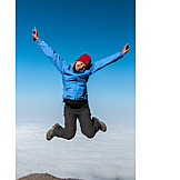 Young woman, Happy, Jump, Freedom