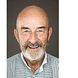 Portrait, Man, Senior, Smiling