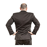 Businessman, Rear view, Determined