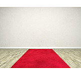 Copy space, Room, Red carpet