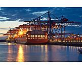 Logistics, Container Ship, Burchardkai