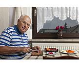 Pensioner, Senior, Cooking, Satisfied, Seniors, Dinner, Retirement, 60 And Older
