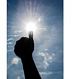 Sun, Weather, Hand, Super