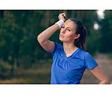 Sport & Fitness, Erschöpft, Joggerin
