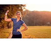 Frau, Erfolg & Leistung, Pose, Sportlich