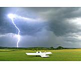 Gefahr & Risiko, Blitz, Segelflugzeug