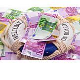 Money, Banknote, Life Belt