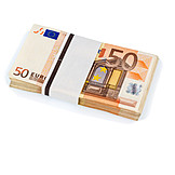 Money, Euro, Banknote, 50
