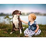 Baby, Hund, Tierliebe