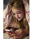 Teenager, Liebeskummer, Digital, Sorgen, Kommunizieren, Smartphone