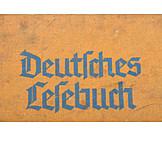 Close Up, Book, Old German