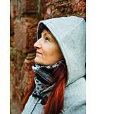 Woman, 45-60 Years, Thinking