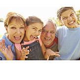 Laughing, Fun & Happiness, Grimace, Grandparent, Grandchildren
