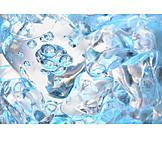 Ice, Frozen, Ice Cubes