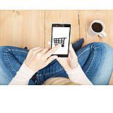 Einkauf & Shopping, Einkaufswagen, Onlineshopping