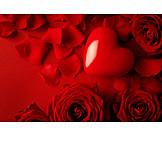 Love, Heart, Valentine, Rose Petals