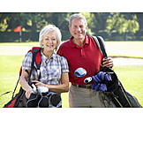 Active Seniors, Golf, Couple
