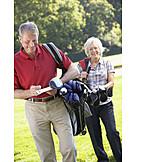 Active Seniors, Golf, Older Couple